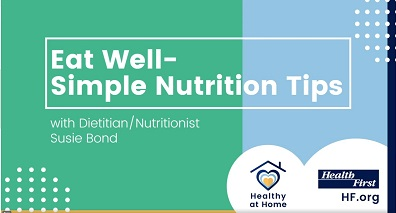 At-Home Eat Well - Simple Nutrition Tips with Susie Bond and  Health at Home-Health First Icon