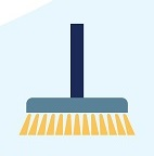 Infographic of broom