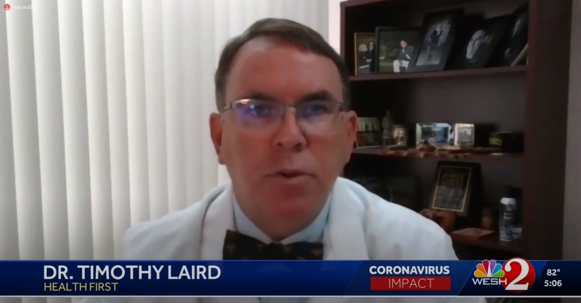 Dr. Timothy Laird speaking on Wesh2 newscast
